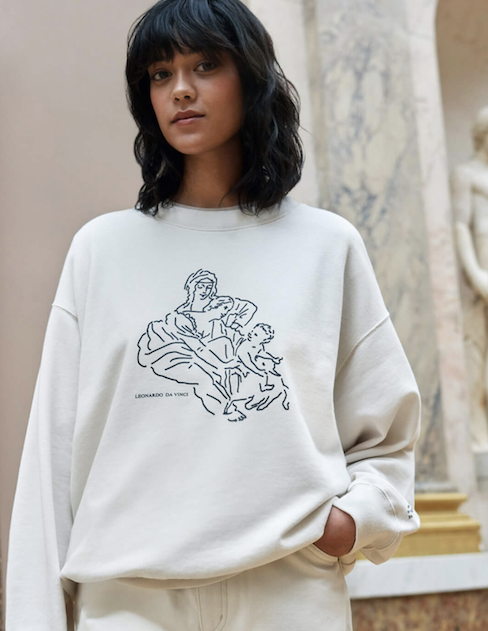 An image from Uniqlo's LifeWear Louvre Museum Collection for summer 2021