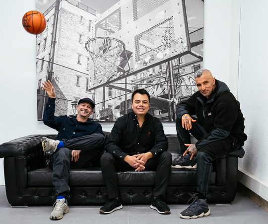 From left to right: The management team behind Kickz.com: Niels Jäger (creative director of Play Hard Group), Philipp Buchholtz (CEO of Play Hard Group) and Jacob Fatih (founder of Crealize)