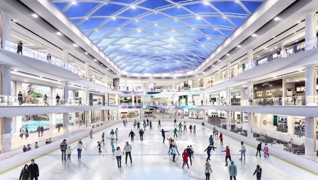 Rendering of the ice skating rink at the American Dream mega mall
