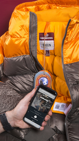 Also Parajumpers uses Certilogo's authenticity checking system