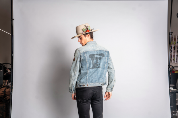 Denim jacket of Barking Irons' Bob Dylan inspired collection