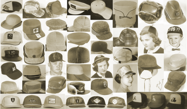 Different headstyles in the 1950s from New Era