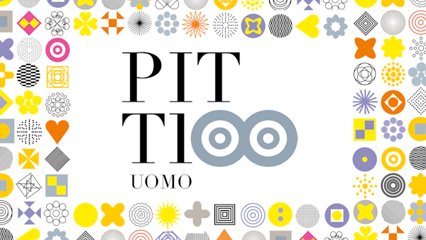Pitti Uomo logo for its 100th edition, created by designer Francesco Dondina