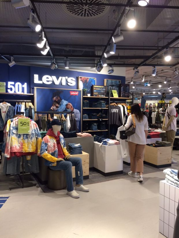 Levi's shop-in-shop at Rinascente's Annex area