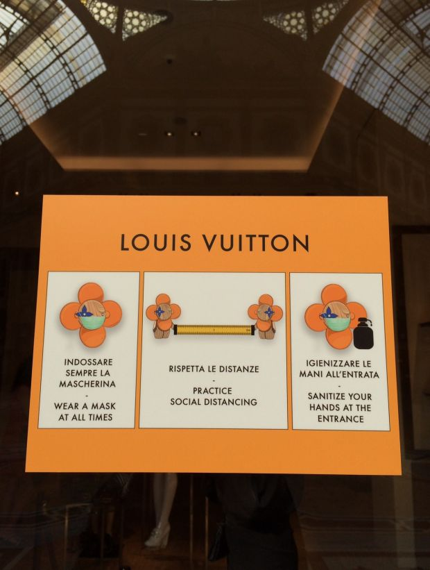 Louis Vuitton sign